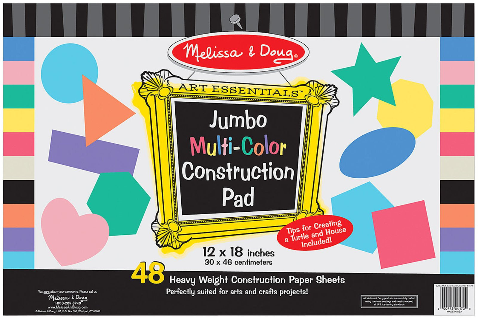 "Melissa & Doug Jumbo Multi-Color Construction Pad (12""x18"")"