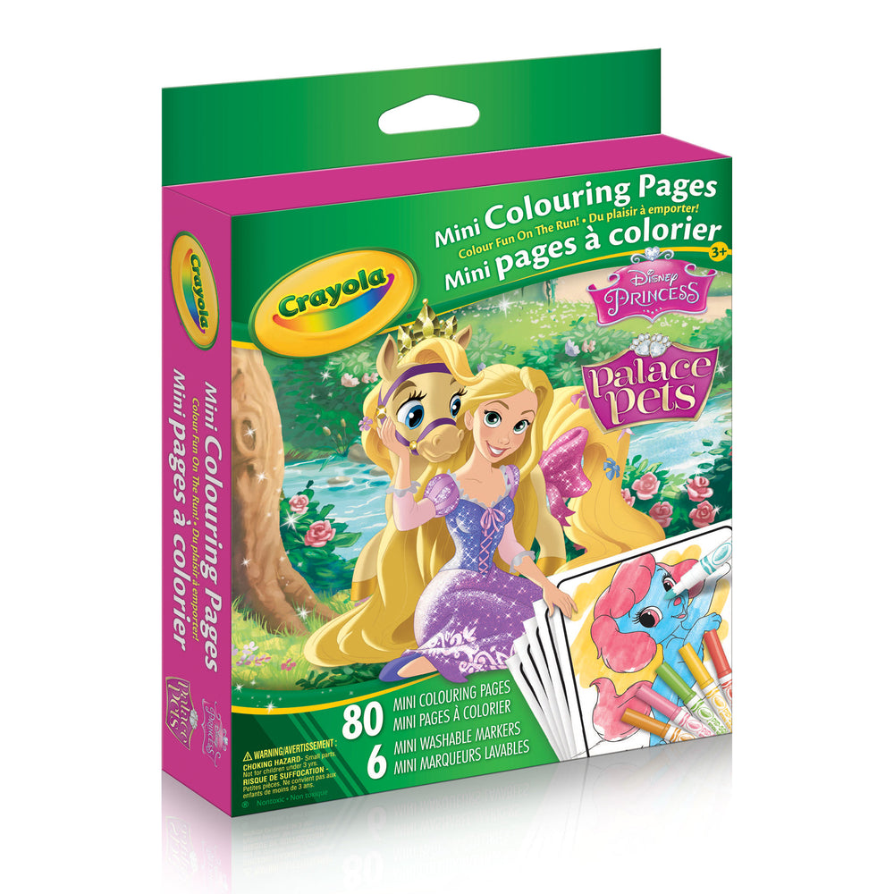 Crayola Mini Colouring Pages DisneyPrincess Palace Pets