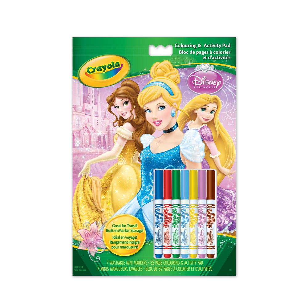 Crayola Colouring/Activity Pad w/Markers-Disney Princess
