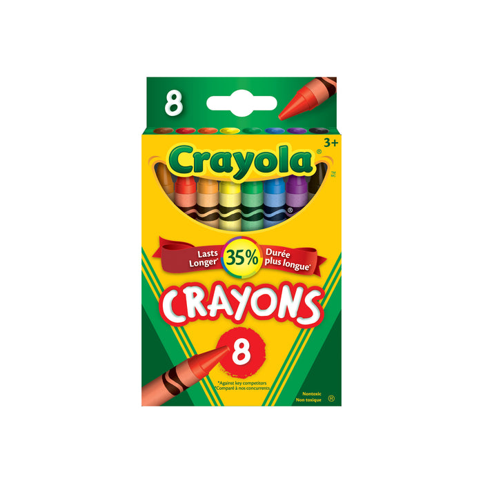 Crayola Classic Colour Pack Crayons-8 Colours