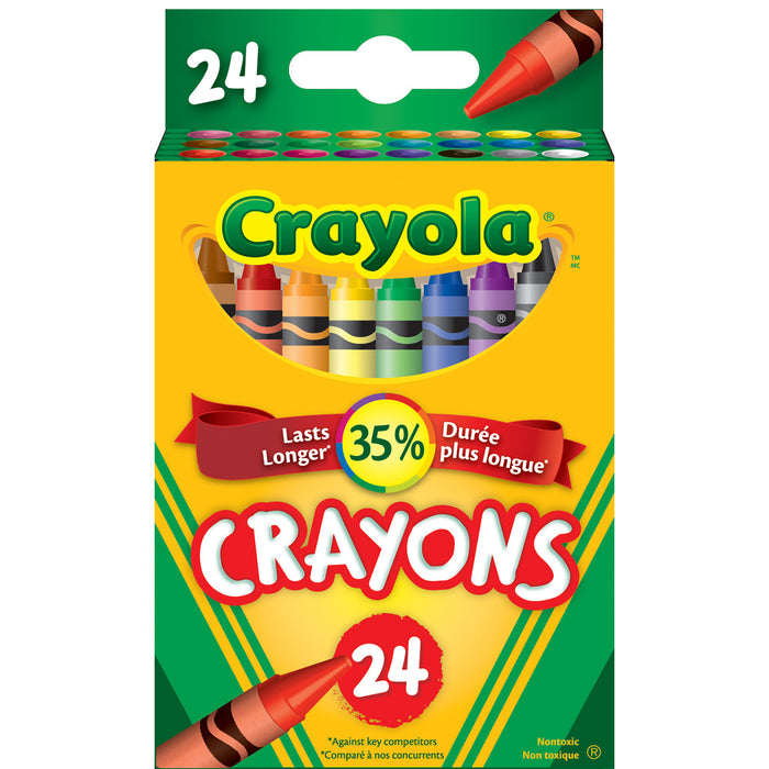 Crayola Classic Colour Pack Crayons-24 Colours