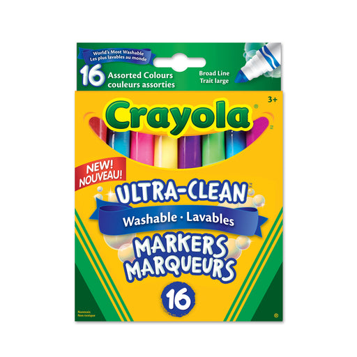 Crayola Washable Broad Line Marker-16 Colours