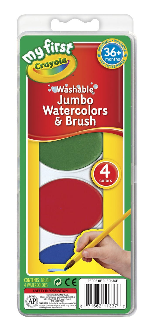 Crayola My First Crayola Jumbo Washable Watercolors Set-PK4