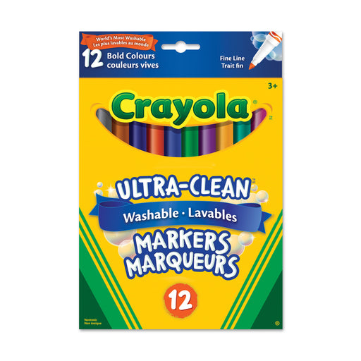 Crayola Washable Fine Line Marker-12 Colours