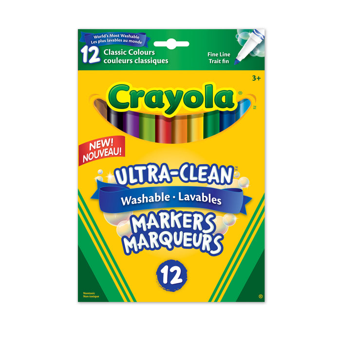 Crayola Fine-Line Washable Markers 12 Pack
