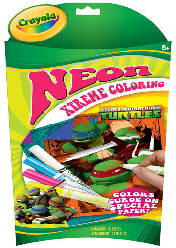 Crayola Neon XTreme Coloring Teenage Mutant Ninja Turtles