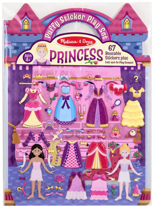 Melissa & Doug Puffy Sticker Play Set-Princess