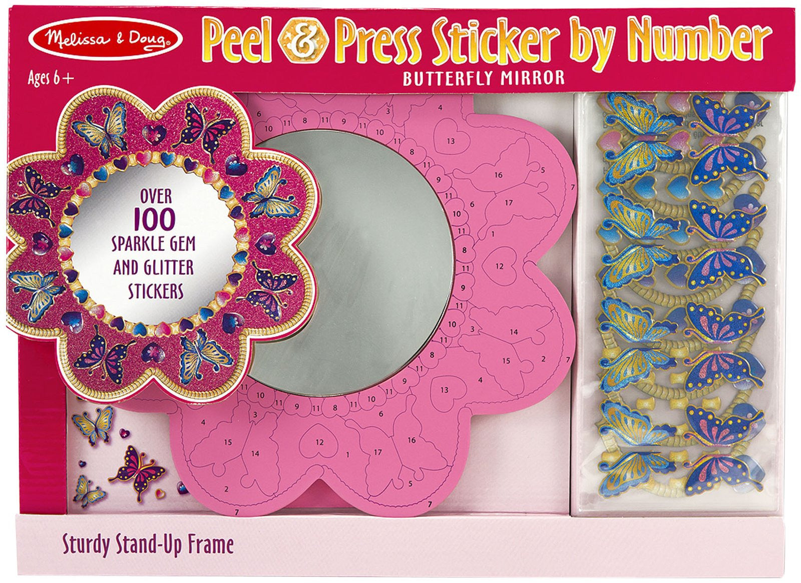 Melissa & Doug Peel & Press Sticker by Number - Butterfly Mirror