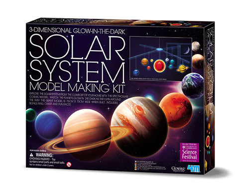 4M 3D Glow In The Dark Solar System Model Making Kit