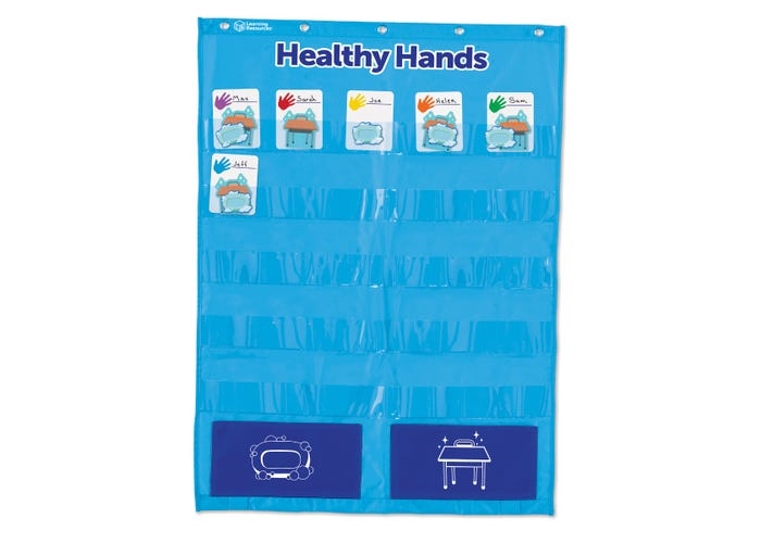 Learning Resources Healthy Hands Pocket Chart