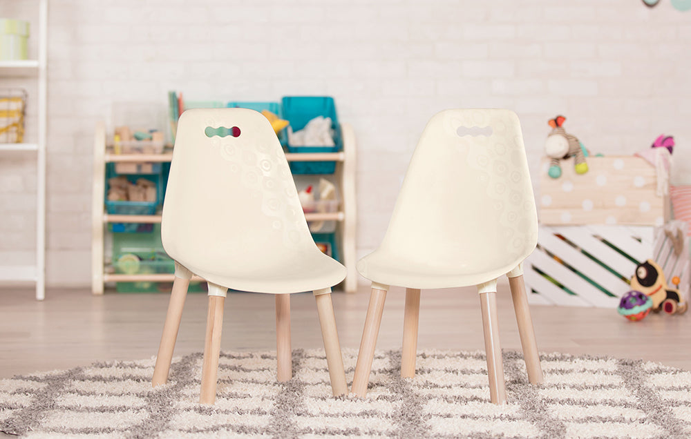B. Toys Chairs Ivory 2 set