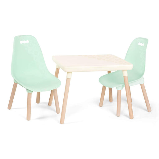 B. Toys Table and mint chairs
