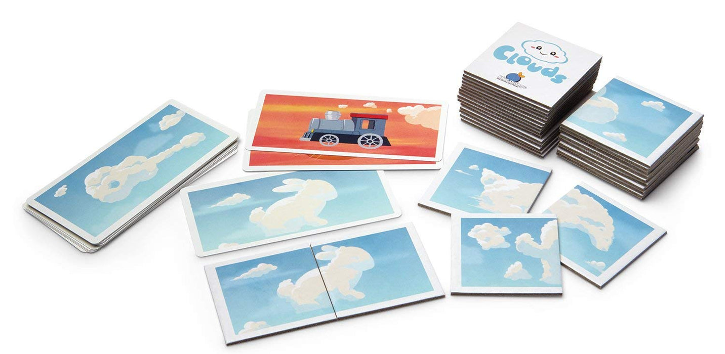 Blue Orange Clouds Imagination Matching Game