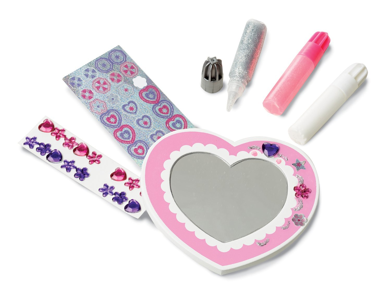 Melissa & Doug & Doug Decorate Your Own Wooden Heart Mirror