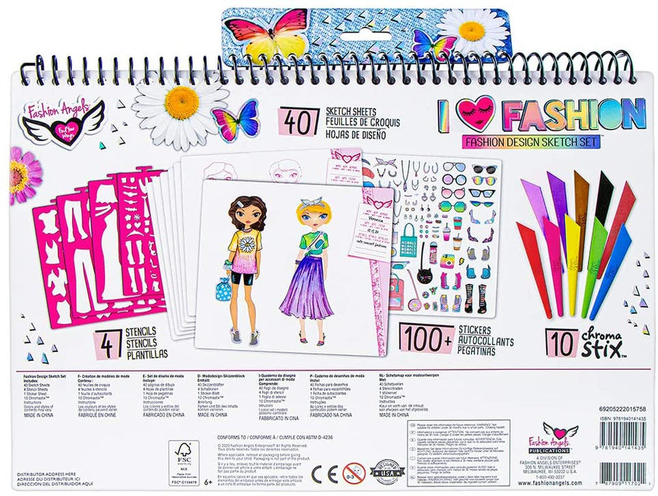 Fashion Angels Fashion Design Portfolio with Art Set