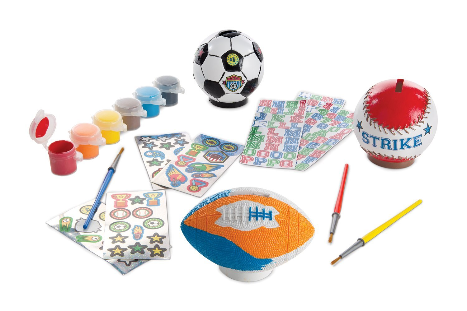 Melissa & Doug Decorate Your Own Sports Set