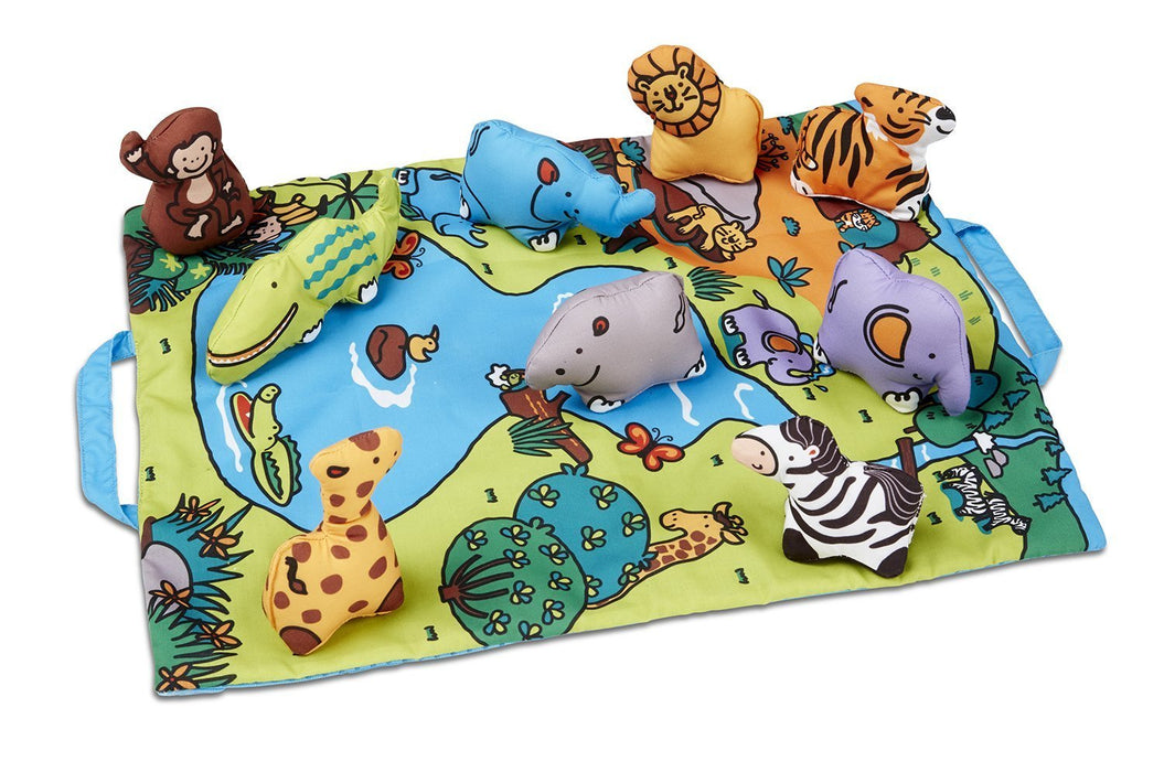 Melissa & Doug Take-A-Long Wild Animals Play Mat