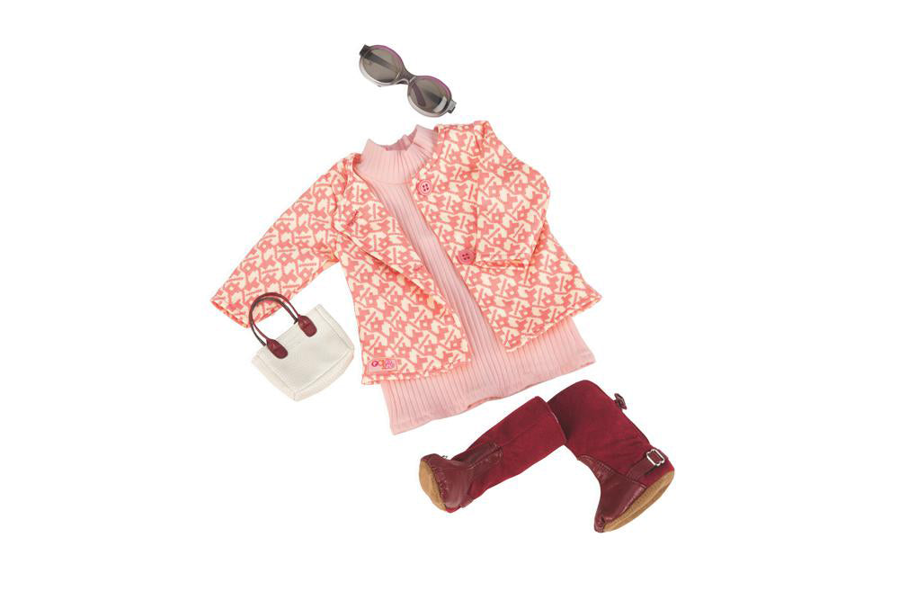 "Our Generation Rosy Picture Deluxe retro Outfit for 18"" Doll"