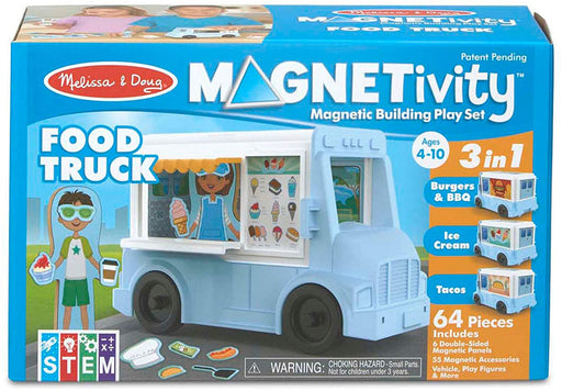 Melissa & Doug Magnetivity Magnetic Building Play Set - Food Truck