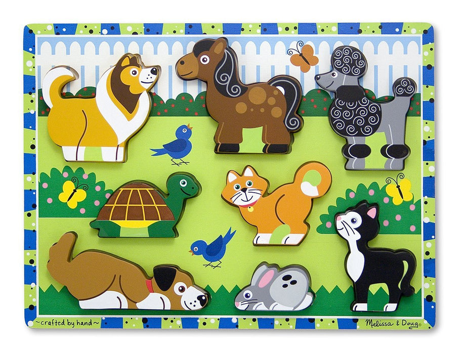 Melissa & Doug Pets Wooden Chunky Puzzle