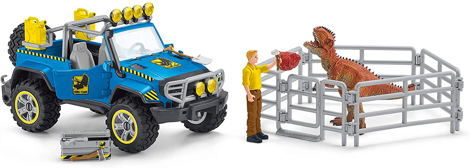 Schleich Off Road Vehicle With Dino Outpost