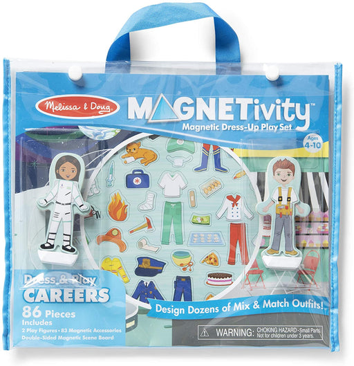 Melissa & Doug Magnetivity Magnetic Dress-Up Play Set - Dress & Play Careers