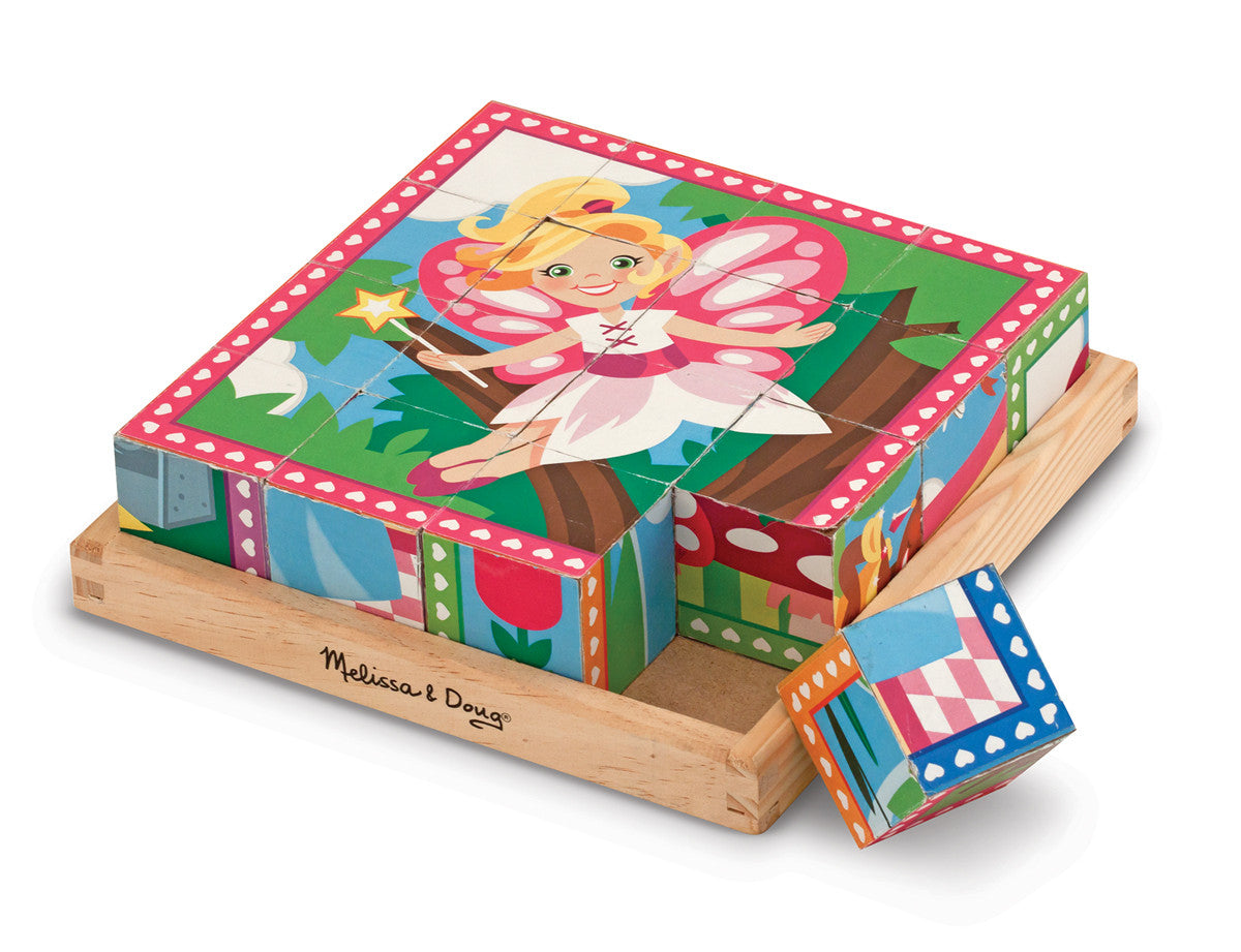 Melissa & Doug Princess and Fairy Cube Puzzle
