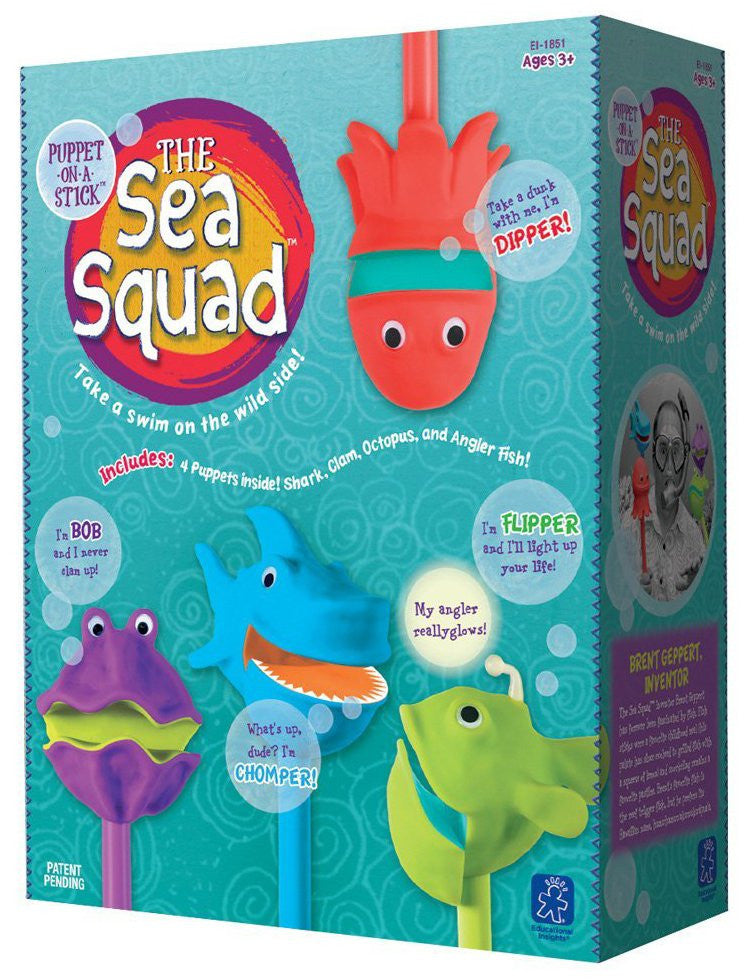Educational Insights Sea Squad Puppets-Set Of 4 In A Box