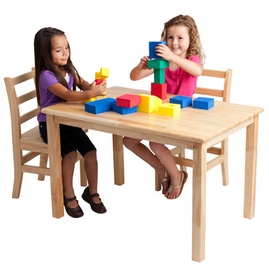 Stock Wooden Toys Rectangular Table with Wooden Legs
