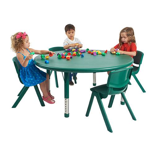 "ECR4KIDS Round Resin Adjustable Activity Table (40"" Diameter)"