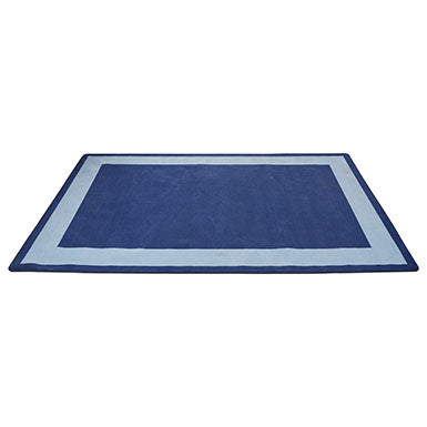 Two-Tone Area Rug 7.5ft x 12ft Rectangle -Blue