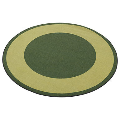 Two-Tone Area Rug 6ft Round - Green