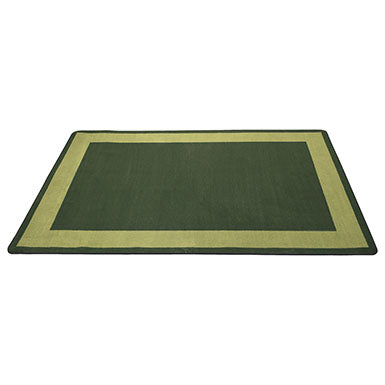 Two-Tone Area Rug 6ft x 9ft Rectangle - Green