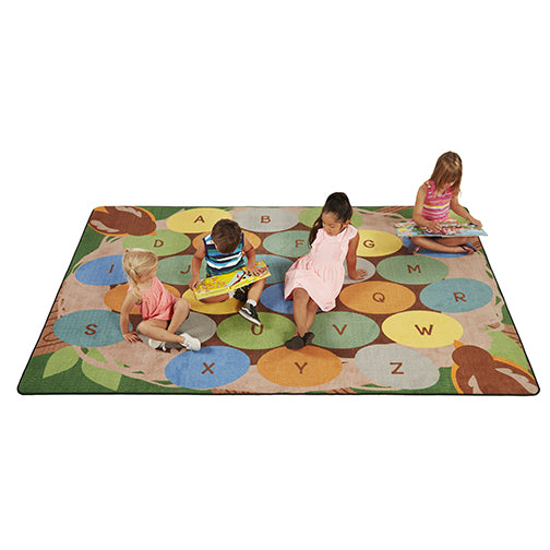 Robins Eggs Alphabet Seating Rug - 9ft x 12ft Rectangle