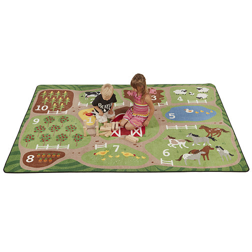 Count the Farm Activity Rug - 9ft x 12ft Rectangle
