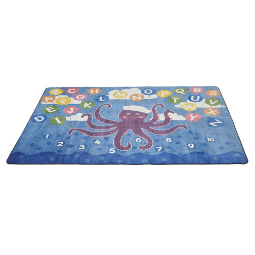Olive the Octopus Activity Rug - 6ft x 9ft Rectangle