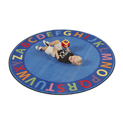A-Z Circle Time Seating Rug - 6ft Round