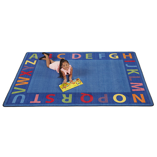 A-Z Circle Time Seating Rug - 6ft x 9ft Rectangle
