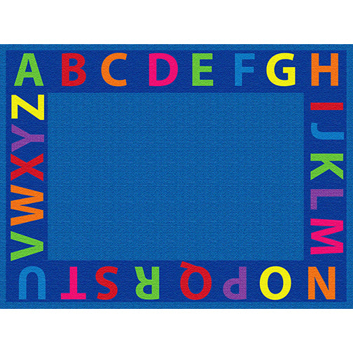 A-Z Circle Time Seating Rug - 9ft x 12ft Rectangle