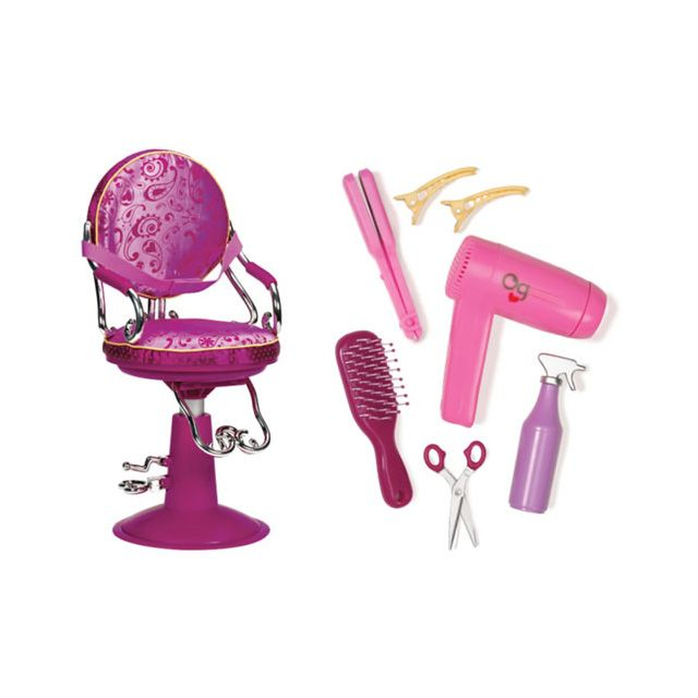 Our Generation Sitting Pretty Salon Chair Pink