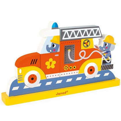 Janod Fireman Magnetic Verticle Puzzle