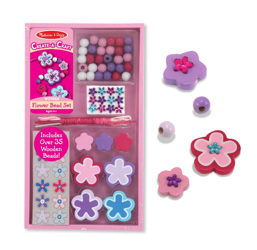 Melissa & Doug Create-A-Craft Flower Power Bead Set