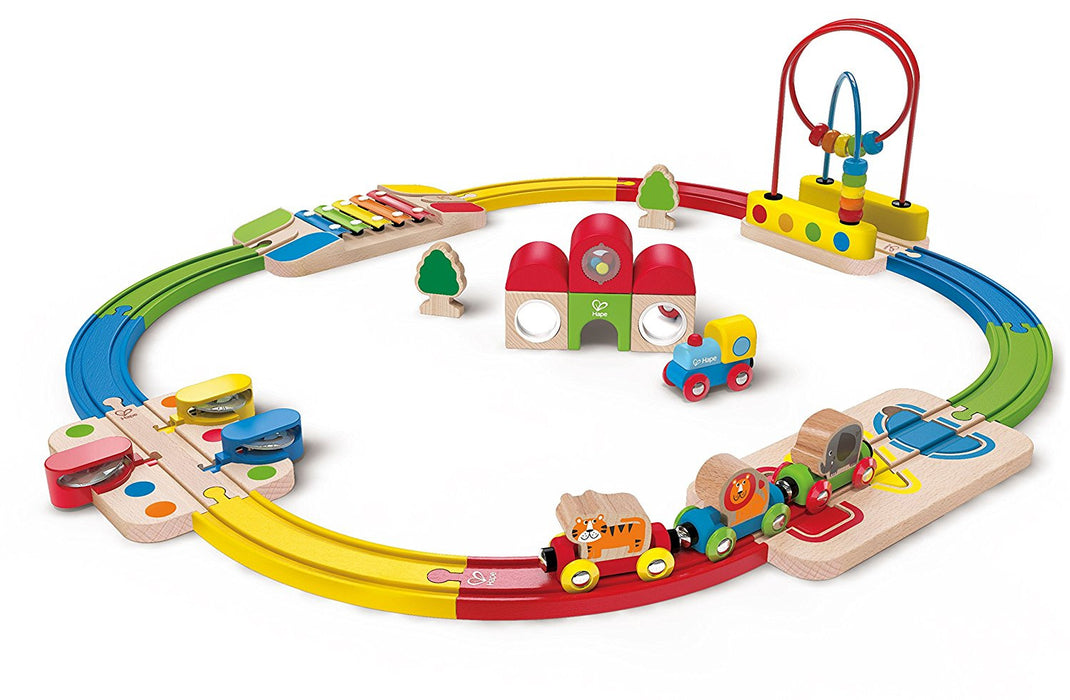 Hape Rainbow Route Musical Railway Set