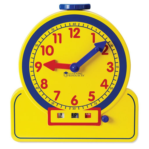 LEARNING RESOURCES PRIMARY TIME TEACHER 12-HOUR LEARNING CLOCK - DEMONSTRATION CLOCK