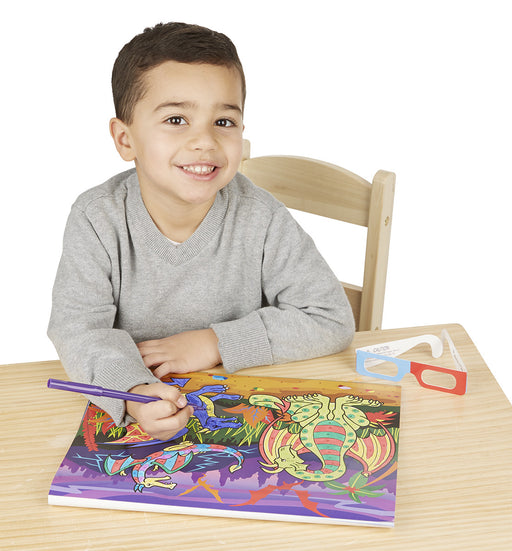 Melissa & Doug 3D Coloring Book - Boy