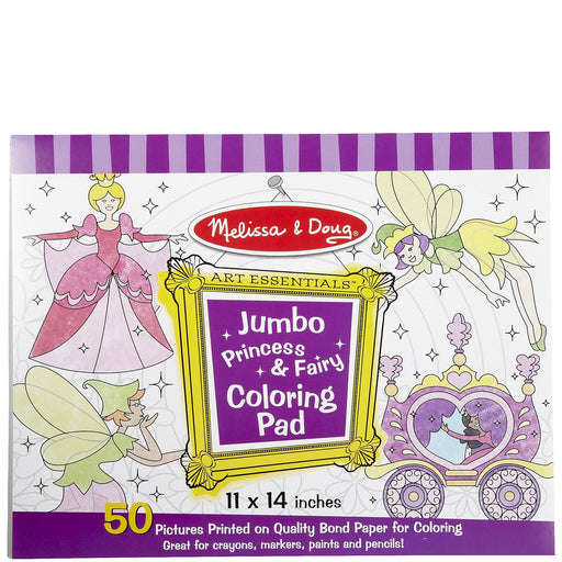Melissa & Doug Colouring Pads - Princess & Fairy