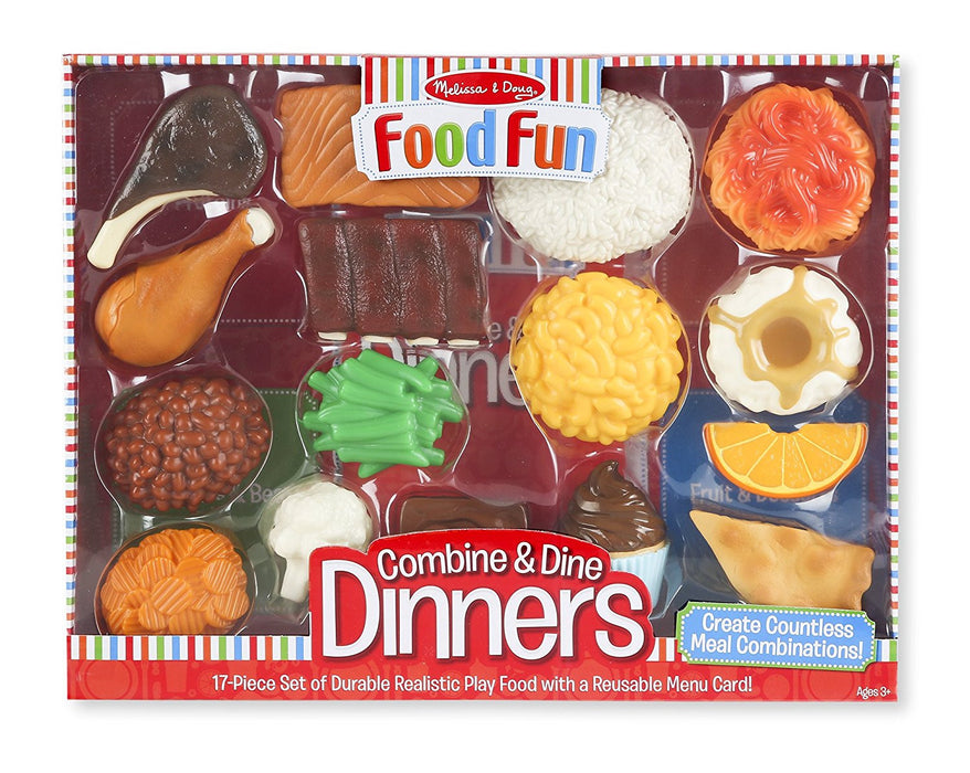 Melissa & Doug Food Fun Combine & Dine Dinners Red
