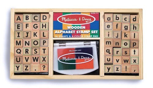 Melissa & Doug Stamp Set: Alphabet