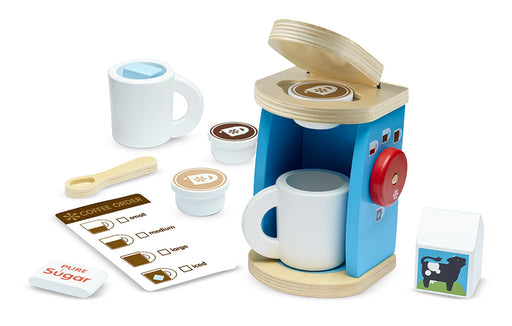 Melissa & Doug Wooden Brew & Serve Coffee Set
