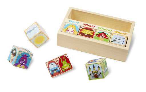 Melissa & Doug Wooden Story Blocks